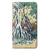 JPW2491IXM 北斎 霧降の滝 Hokusai Kirifuri Waterfall at Kurokami Mountain in Shimotsuke iPhone XS Max フリップケース