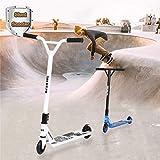 WRRAC-Trampolin Kinder Stunt Scooter Kinder - Freestyle Pro 360 Grad Trick Hinterradbremse PU-Räder...