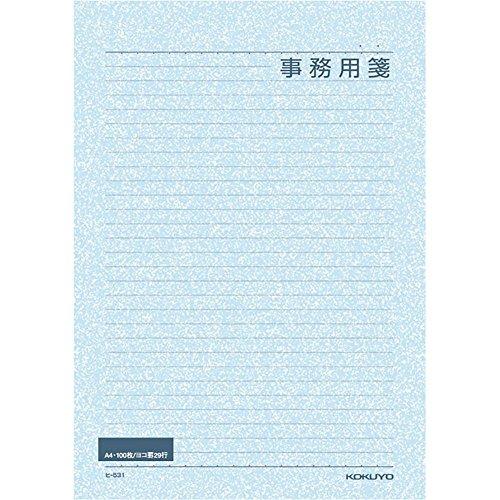 コクヨ 事務用箋 A4 横罫 100枚 ヒ-531N