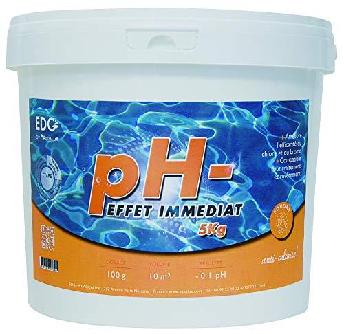 PH Moins Piscine - Poudre - Seau 5 kg - Baisse Le PH - EDG