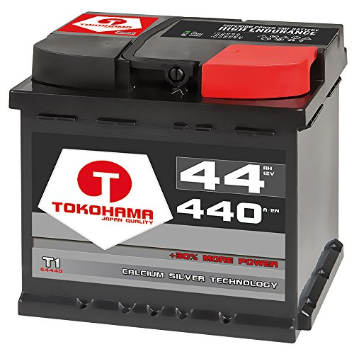 T TOKOHAMA JAPAN QUALITY Autobatterie 44Ah +30{edadb12d4445a6b275f37bd6e3077ef92931e6a9fbd8517b02bb936a1c306816} mehr Startkraft ersetzt 45Ah 50ah Starterbatterie