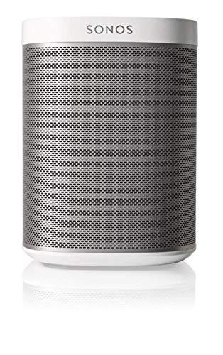 Sonos Play:1 Smart Speaker (Kompakter und kraftvoller WLAN Lautsprecher für unbegrenztes Musikstreaming – Feuchtigkeitsbeständiger Multiroom Lautsprecher) weiß