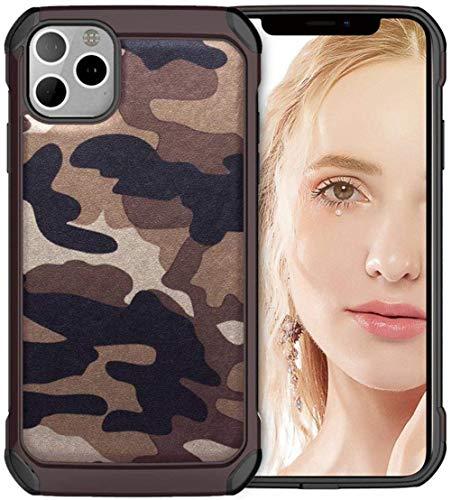 OneYMM IPhone11/11Pro/11ProMax beschermhoes schokbestendig, hybride, robuust, camouflage, krasbestendig, zacht, TPU, bumper gehard glas