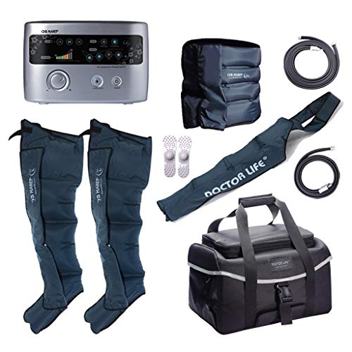 DSMAREF Recovery Compression System Full Package : Compression Pump, Recovery Boots, Arm Sleeve, Waist Sleeve, Carry Bag. (Boots Size : XL)