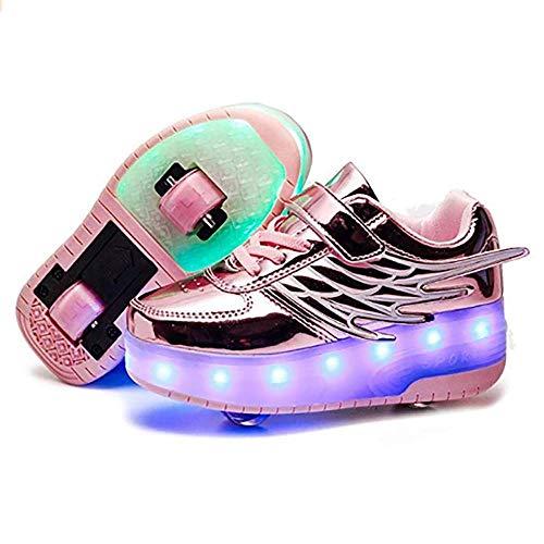 Retractable Light Up Roller Schuhe LED Skates Schuhe Single Wheel Schuhe Abnehmbare Roller Sneakers für Mädchen Jungen