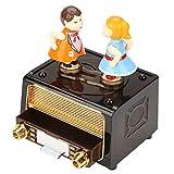 Jadpes Carillon, 17,5 × 13,5 × 11 cm Forma Radio retrò con Belle Bambole Scatola di immagazzinaggio per Bambole Matrimonio Regalo di San Valentino Amore Kissing Doll Carillon Musical