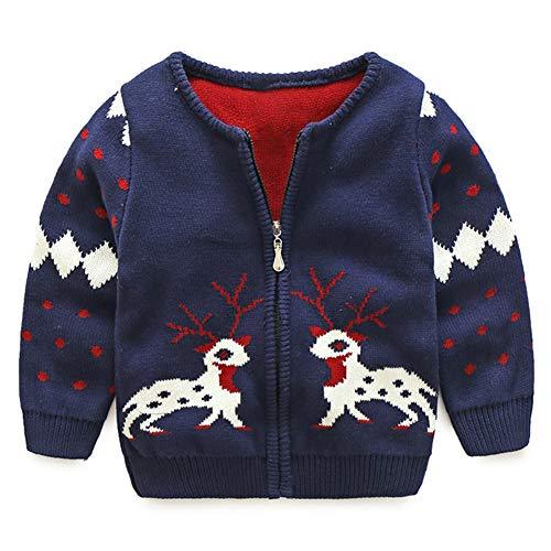 Modder Koninkrijk Little Boy vest trui Rits kerst hert