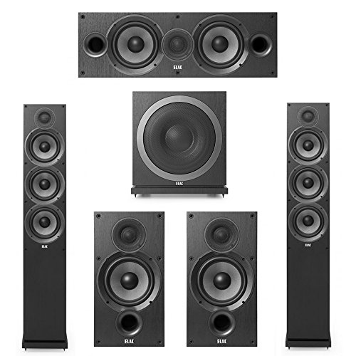 Elac Debut 2.0-5.1 System with 2 F6.2 Floorstanding Speakers, 1 C6.2 Center Speaker, 2 B6.2 Bookshelf Speakers, 1 Elac Sub3010 Subwoofer
