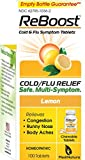 MediNatura ReBoost Natural Cold/Flu Symptom Relief, Non-Drowsy - 100 Tabs - Lemon