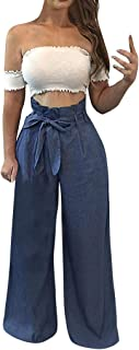 Striped Polka Dot Wide Leg Pants for Women Plus Size Palazzo Trousers