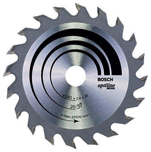 Bosch 2 608 640 586 - Hoja de sierra circular Optiline Wood - 140 x 20/12,7 x 2,4 mm, 20 (pack de 1)
