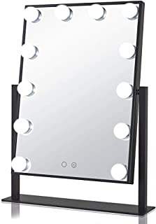 YXZQ Makeup Mirror, Hollywood Makeup Vanity Mirror, Dimmable 360°Rotating Tabletop Cosmetic Mirror with 12 LED Bulbs, 3 Co...