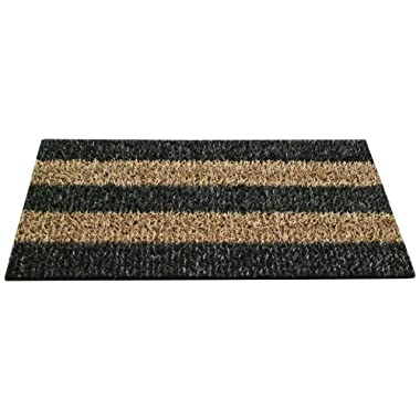 GrassWorx Clean Machine Patio Stripe Doormat, 18  x 30 , Root Beer (10371829)