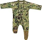 TC U.S. Navy Baby Boys NWU Camo Crawler with Recruit Boots (3-6 Months)