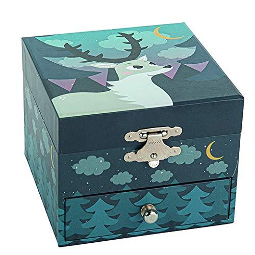 Trousselier - Dear In The Forest - Joyas musicales - Regalo ideal para niños - Música Little Night Music By Mozart - Multicolor - - Fotoluminiscente - brilla en la oscuridad - - 2 unidades