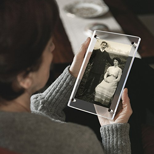 NIUBEEアクリルフォトフレーム写真立てL判スタンドタイプ透明写真フレーム卓上展示ピクチャー、ポスター、絵画、賞状89x127mm