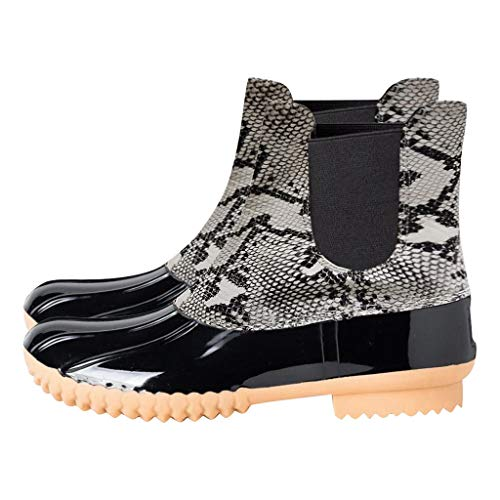 POLP Mujer Botas de lluvia de Leopardo Calzado impermeable Botas impermeables Zapatos...