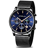 CRRJU Mens Watches Fashion Date Chronograph Watch Men Waterproof 30M Sports Quartz Watches