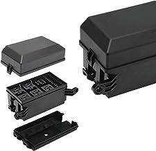 12V Fuse Relay Box - JOYHO 12-Slot Relay Block, 6 Relays and 6 ATC/ATO Fuse Holder Block with 41pcs Metallic Pins for 12V Automotive Vehicles Cars Marine Boat Jeep Light Equipment