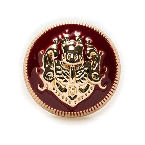 Home 5 stks Lion Enamel Metal Knoppen voor Naaien Plakboek Jas Blazer Truien Gift Crafts Handwerk Kleding 10-25mm, Rood goud, 23mm