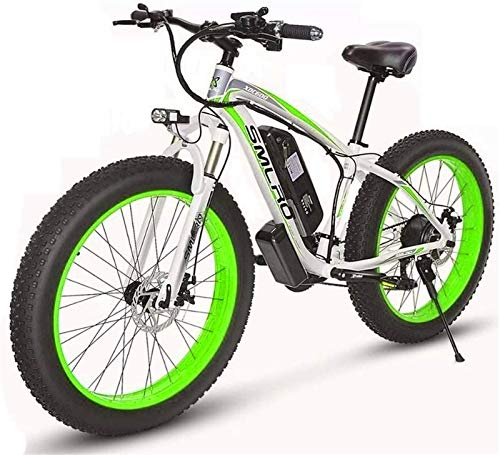 Bici electrica, 48V 15 Electric Mountain Bike 26 '' Fat Tire Bike E-21 Velocidades de suspensión crucero de la playa for hombre Deporte de bicicletas de montaña completa Frenos de disco hidráulicos de