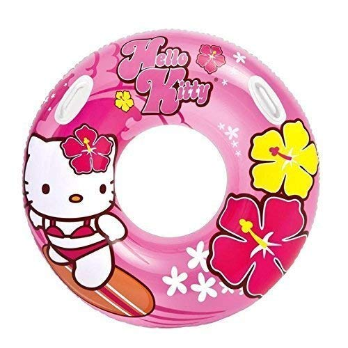 Lively Moments Schwimmring / Schwimmreif / Badering mit Griffen in Pink / Rosa Hello Kitty ca. 97 cm