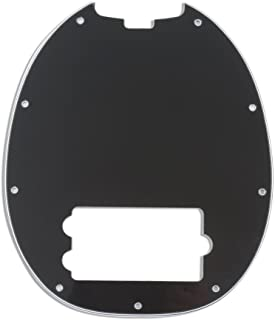 Musiclily 9 Agujeros Pickguard Golpeador para Musicman Stingray Bajo de 4 Cuerdas,3 capas Negro