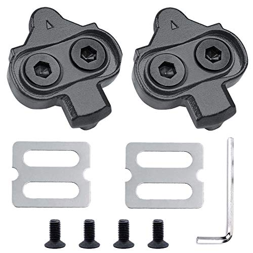 HAPPY FINDING Bike Cleats, Bike Bicycle Cleat Set Compatible with Pedals Shimano MTB SPD Indoor Cycling & Road Mountain Biking