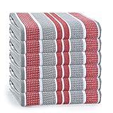 GLAMBURG Paquete de 6 Toallas de Cocina de algodón de 46x71 Cm, paños de...