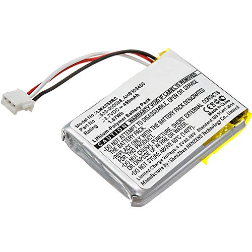 subtel® Batteria Premium Compatibile con Logitech MX Anywhere 2 MX Master MX Master 2 MX Master 2S MX Master 3 MX Ergo, 533-000120 450mAh accu Ricambio Sostituzione