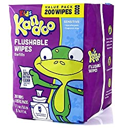 potty training flushable wipes