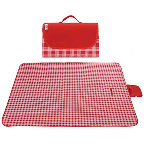 MEDOON Outdoor & Picknickdecke Extra große sandfeste und wasserdichte Faltbar tragbare Strandmatte für Camping-Wanderfestivals (200 * 195)…