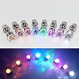 WandLee LED Ohrringe in Kronenform leuchtende blinkend Komische Ohrstecker Schmuck für Tanz, Party, Fan, Club, Accessoires