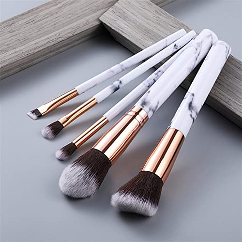 Conjunto de pincéis de maquiagem 5/10 peças iluminador para olhos, pó cosmético, base para sombras, cosméticos, sobrancelhas profissionais, cabelo macio (tamanho : Estilo5 5 peças)