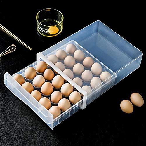 Soporte para 30 huevos, para almacenamiento de cocina, para huevos, accesorio de cocina, diseño único, caja de almacenamiento para nevera, organizador para el hogar