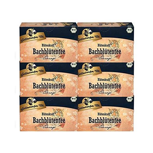 Goldmännchen-TEE Blütenkraft Bachblütentee Mut & Kraft - Courage BIO 6er Pack