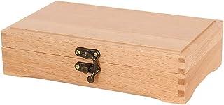 Wood Hinged Box, Artist Pastel Pen Marker and Supplies Storage Box