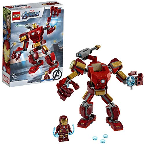 LEGO 76140 Super Heroes Marvel Avengers Iron Man Mech Playset, Battle Action Figure for Kids 6 + Year Old