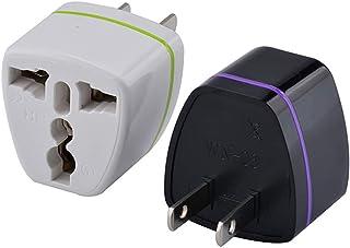 1個 全世界対応マルチ変換プラグA型(海外電化製品を日本で利用) A,BF, C, B3, O,B, コンセント変換アダプター 電源形状変換プラグ 世界の家電を日本で使える, 世界のコンセントを日本仕様に変換