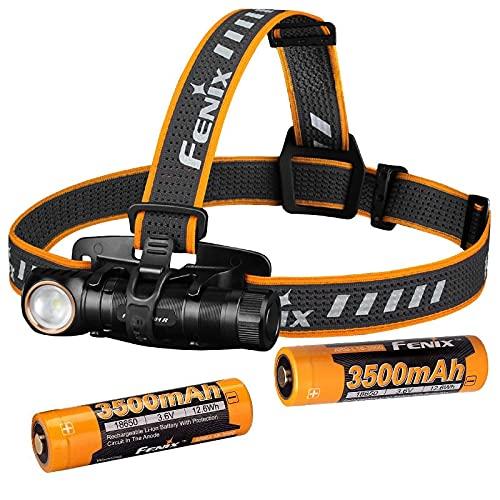 FENGNANMY Linterna Frontal Linterna de la batería de la Carga del USB de la Carga del Faro 3500mAh y una lámpara de Pecho (Emitting Color : HM61R 2 X 3500)