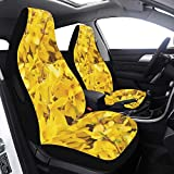 Cover Infant Car Gold Lilac Forsythia Branches Yellow Flowers Car Seat Cover for Girls 2 Pcs Universal Fit Airbag Compatible for for Car SUV Auto Truck Toddler Seat Cover