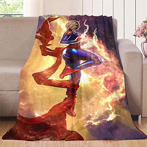 Nuoman Bettdecke, Superheld, Deadpool, Plüsch-Mikrofaser-Decke für Kinderbett und Kinderwagen, Microfaser, Farbe_04, 70