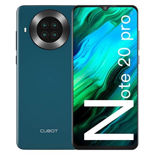 "CUBOT Note 20 Pro Móviles Libres, 128GB + 6GB Smartphone, Pantalla 6.5"" HD+, 20MP Quad cámara, Android 10.0 Teléfono Móvil, Batería 4200mAh, 4G Dual SIM, Face ID, NFC, GPS"