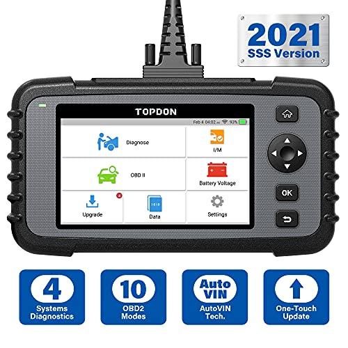 TOPDON obd2 diagnosegerät ArtiDiag500, Systemdiagnosen für Motor/Getriebe/ABS/SRS, volle obd2 Funktion, Free Software-Upgrade, Auto Vin, 2 Jahre Garantie