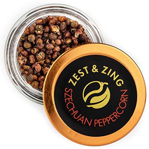 Szechuan Pfeffer, 12g - ZEST & ZING Premium Chili Gewürz. Frische, praktische, stapelbare Gewürzdosen.