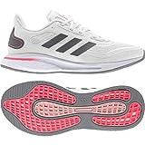 adidas mens Supernova Running Shoe, White/Grey/Signal Pink, 9 US