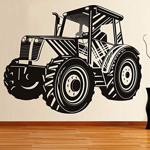 zaosan DCTOP Conducción Tractor Transporte Tatuajes de Pared de Vinilo Removible Autoadhesivo Decoración del Hogar Etiqueta de La Pared del Coche Ahueca hacia Fueracm 75x89cm