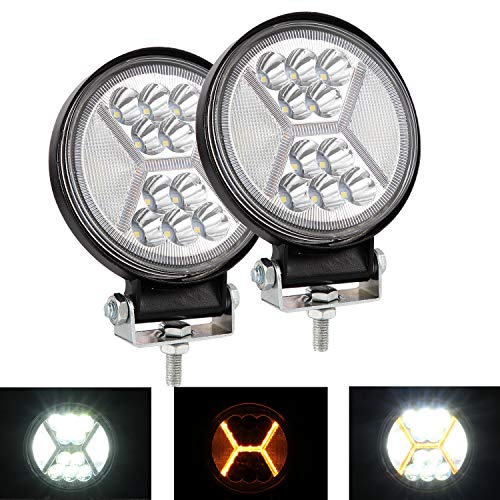 "YUGUANG Pair LED Bar 4.4"" 234W 25000LM 6000K+3000K Combinado 30° Spot 120° Flood Beam DOT DRL Faros Trabajo LED 4x4 Off Road Faros Antiniebla Led Floodlight Truck Boat Faro de Barco Led Motocicleta"