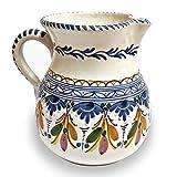 Jarra de cerámica artesanal 17 cm (1,35 litros) con diseño