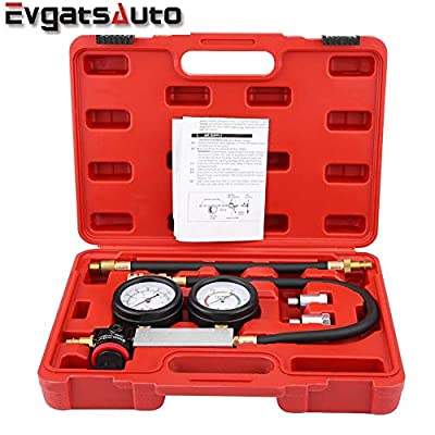 Evgatsauto Cylinder Leak Tester, All-in-One 4Pcs New Heavy TU-21 Cylinder Leakage Leak Tester Petrol Engine Compression Test kit Diagnostics Tool - Leakdown Detector Gauges Set Petrol Engine by EVGATSAUTO